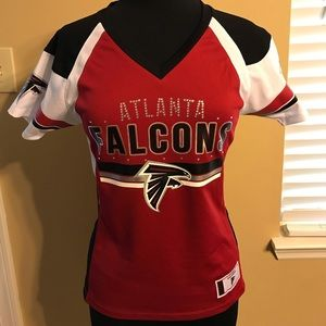 Small Ladies Falcons Majestic Athletic Jersey